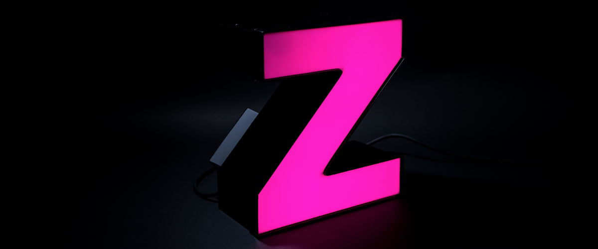 Color Changing LED Channel Letter Pink