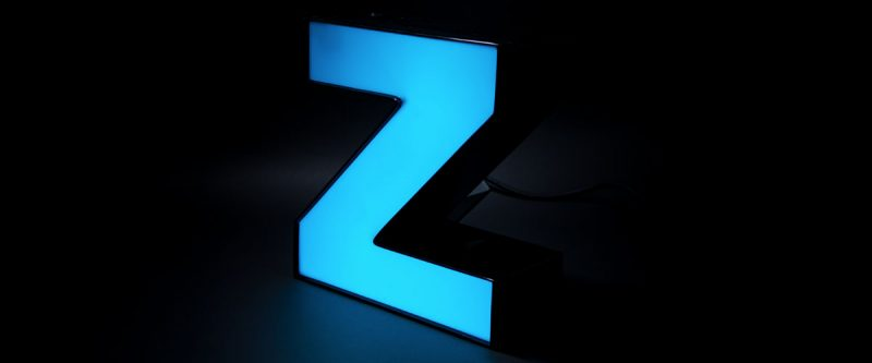 Color Changing LED Channel Letter Blue
