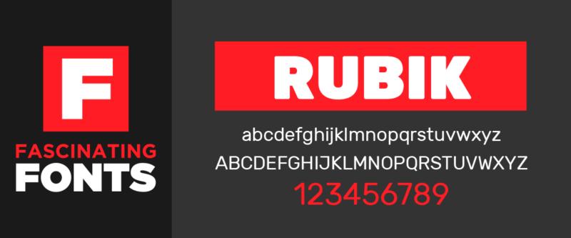 Fascinating Fonts: Rubik
