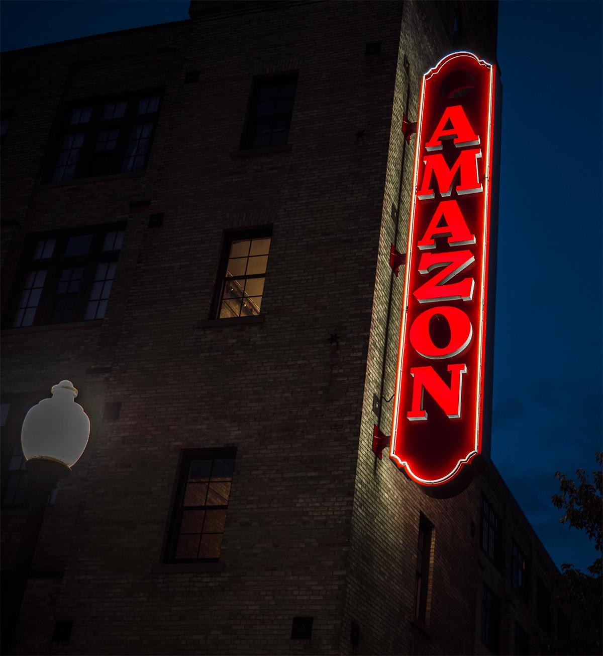 Amazon LED sign