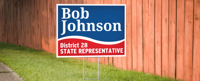 Bob Johnson Yard Sign