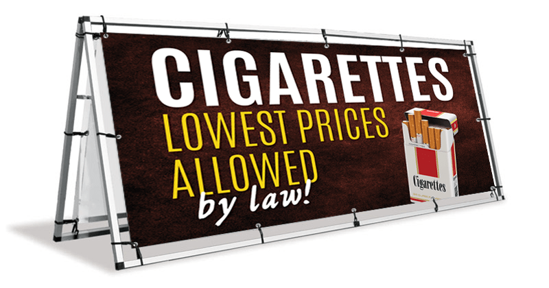 Cigarettes A Frame Banner Stand
