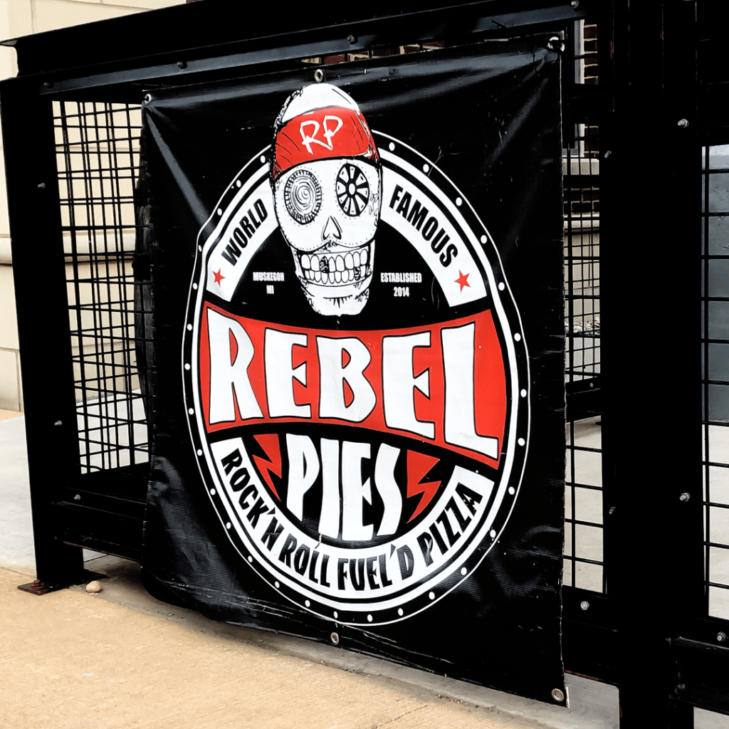 Rebel Pies Vinyl Banner