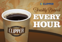 Clipper Coffee Fresh Brewed Every Hour