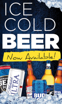 Cold Beer Now Available Poster