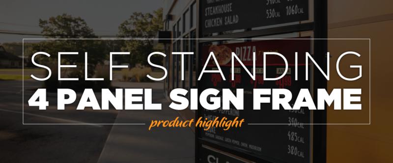 Self Standing 4 Panel Sign Frame
