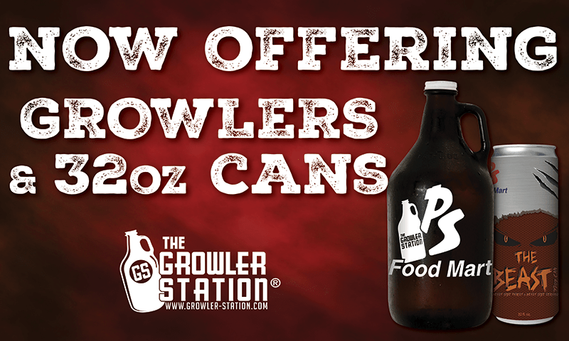 Now Offering 32oz Growlers Sign