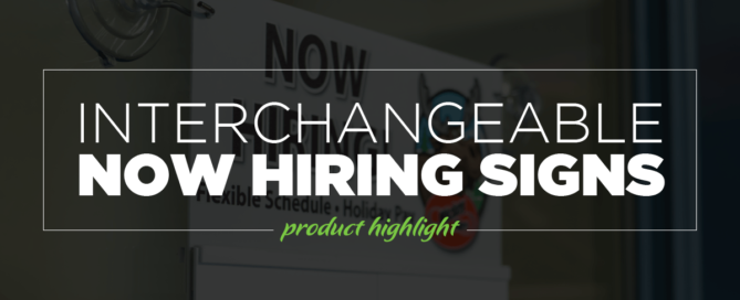 Interchangeable Now hiring Header