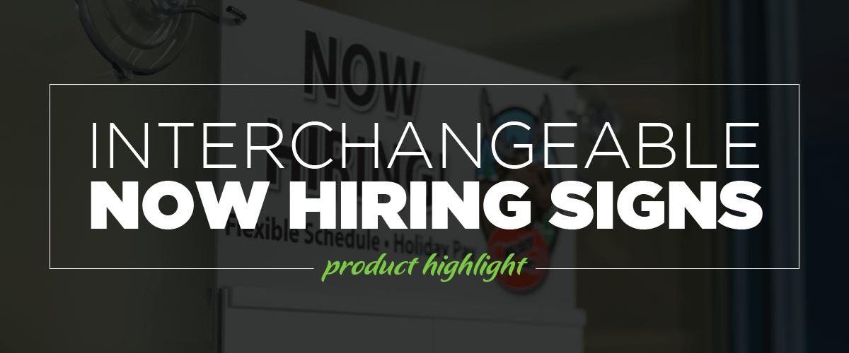 Interchangeable Now hiring Header