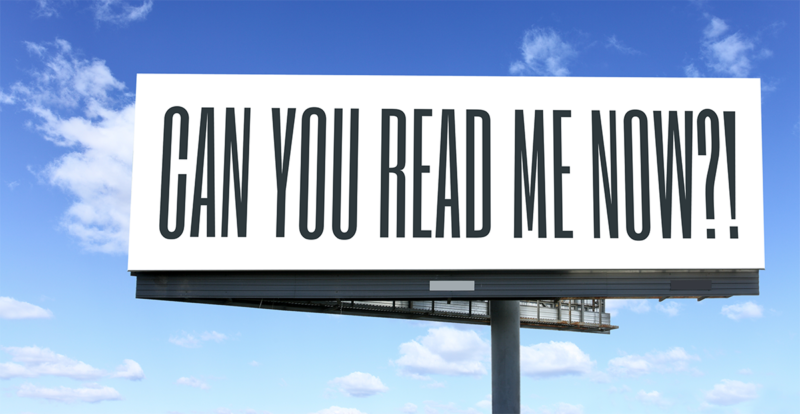 Can You Read Me Now Billboard
