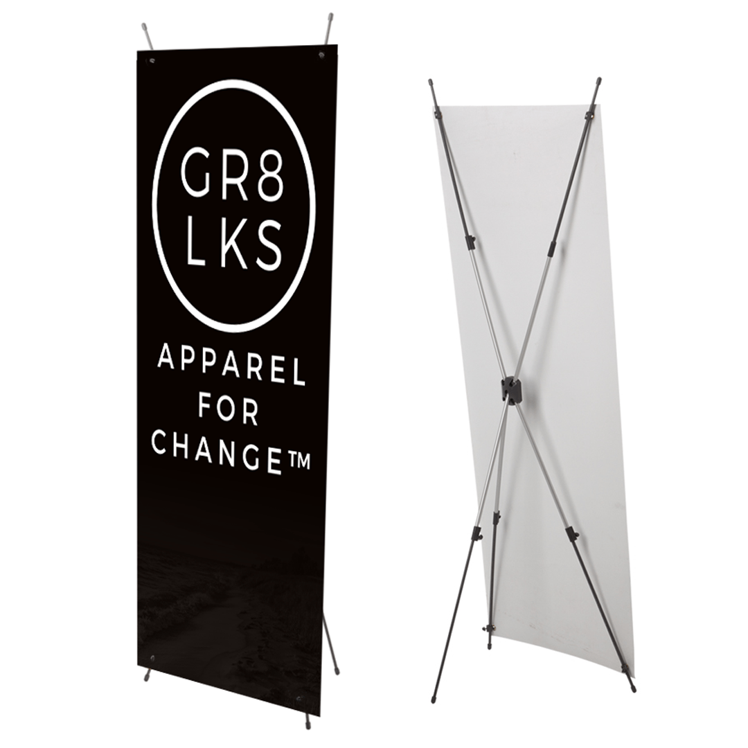 X Banner Stand with GR8 LKS Banner