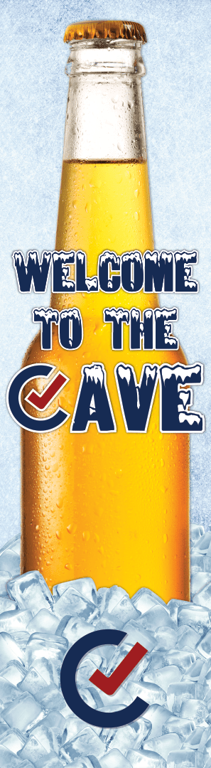 Beer Cave Welcome Sign