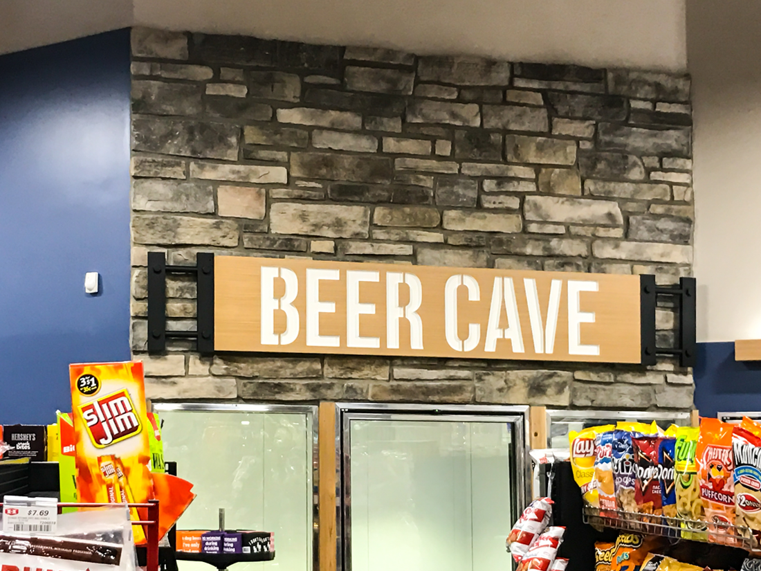 Beer Cave Dimensional Sign