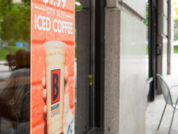 Biggby Iced Coffee Window Graphic