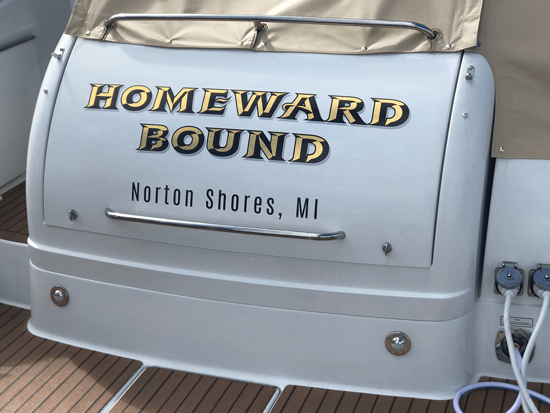 Homeward Bound Boat Graphic Lettering