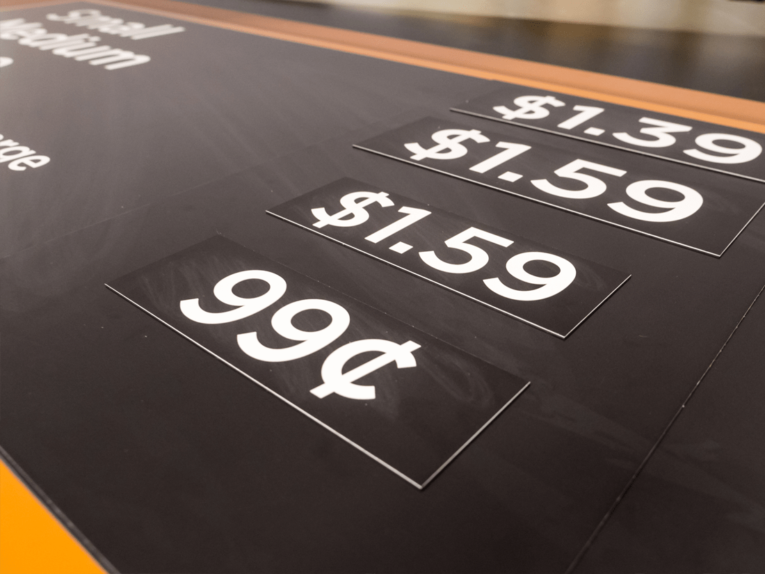Changeable Price Product Wilde Signs