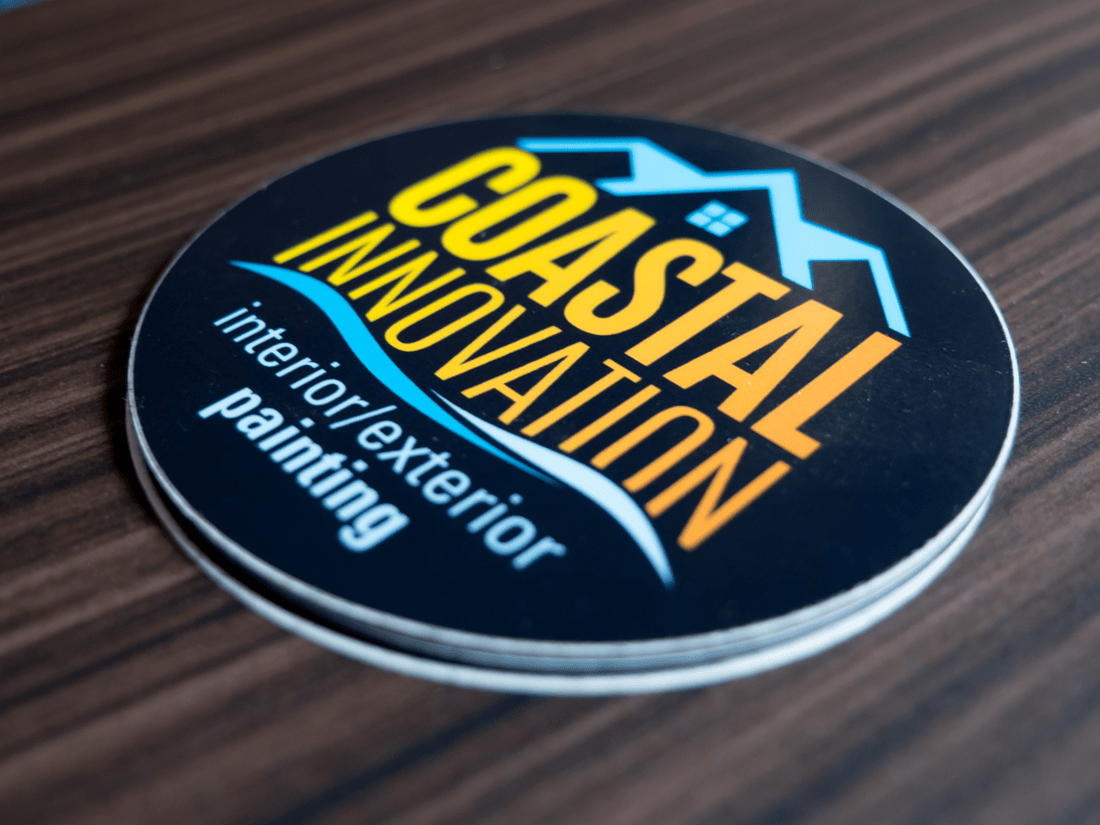 Coastal Innovation Circle Stickers