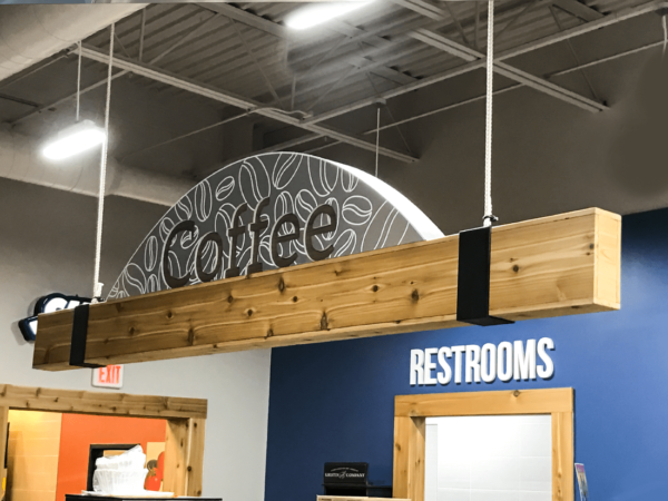 Dimensional Hanging Coffee Sign