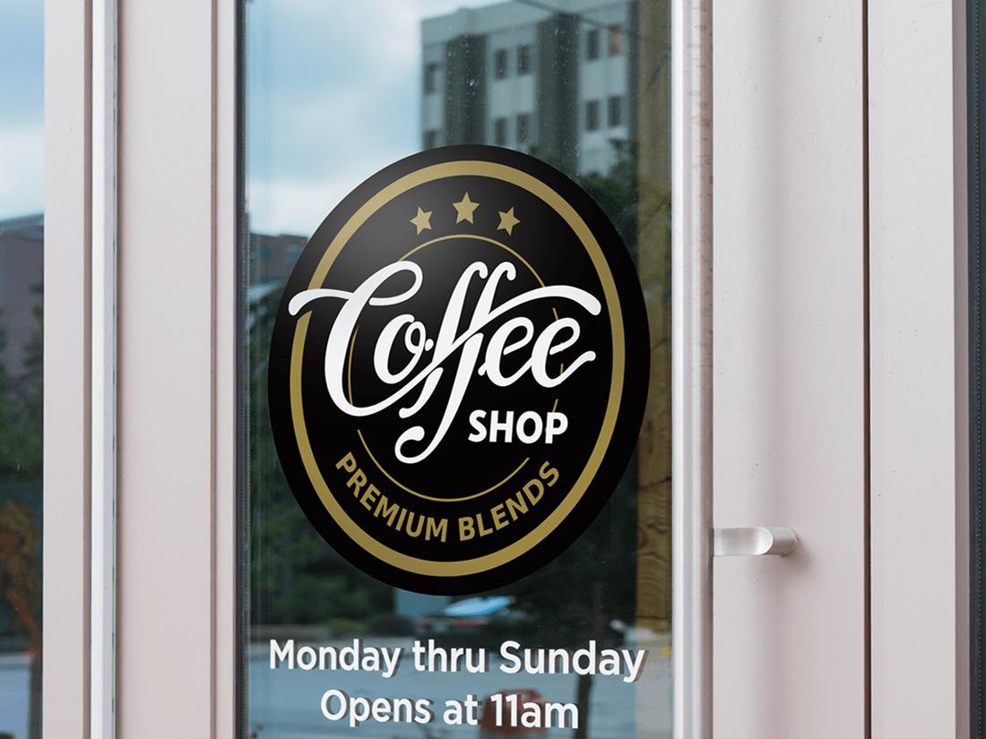 Coffee Shop Window Graphic