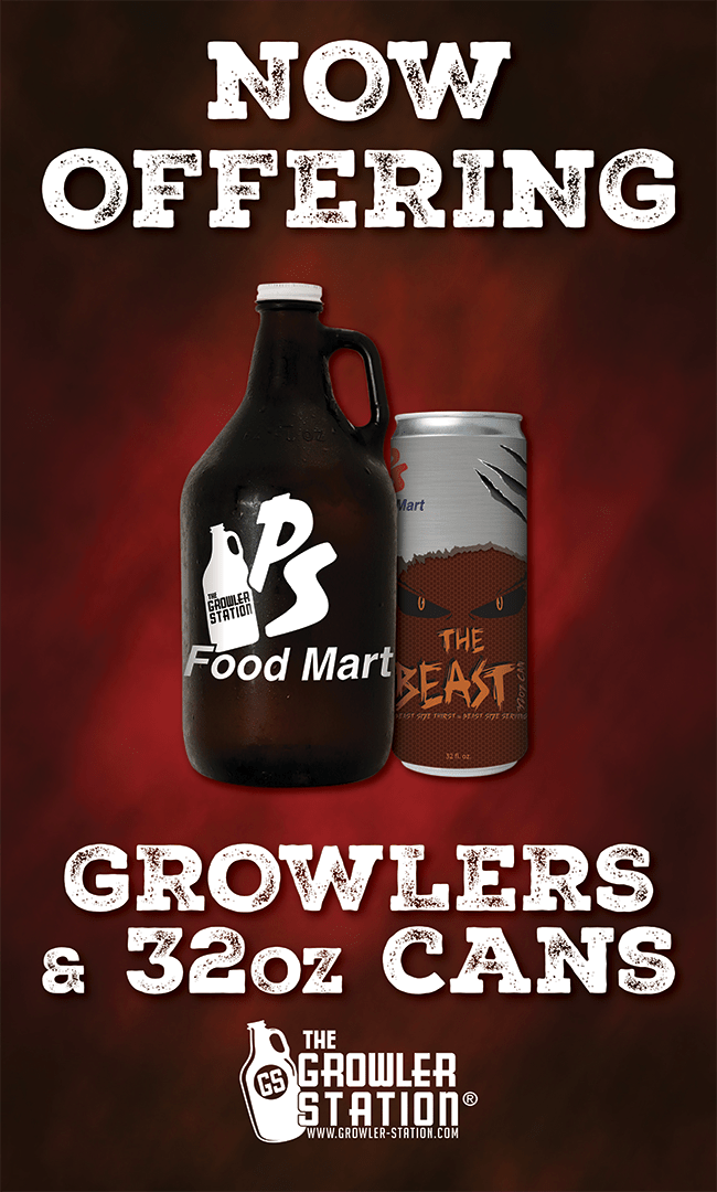 Growlers and 32oz Cans