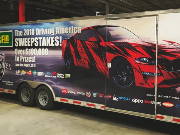 Kwikfill Driving America Trailer Wrap