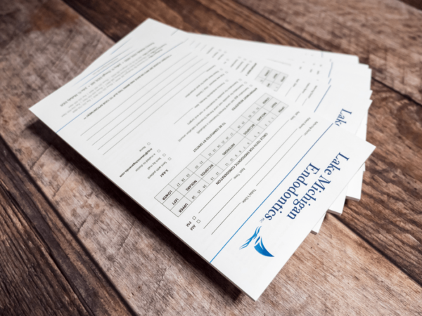 Lake Michigan Endodontics Referral Pad