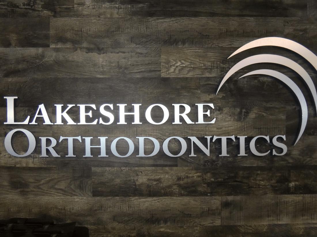 Lakeshore Orthodontics Aluminum Wall Lettering