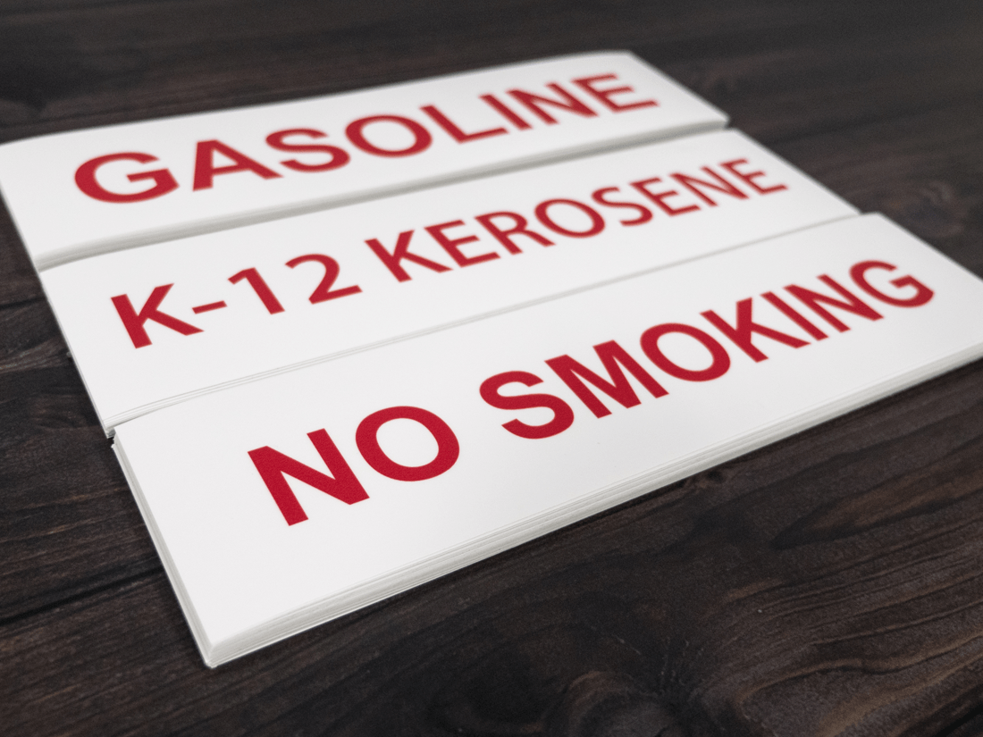 Gasoline Decals