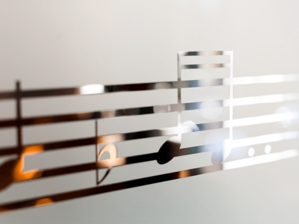 Music Notes Frosted Window Graphic