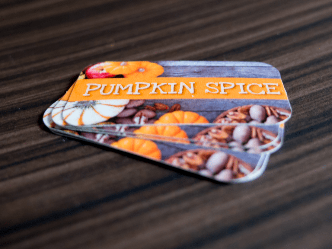 Pumpkin Spice Button Decals