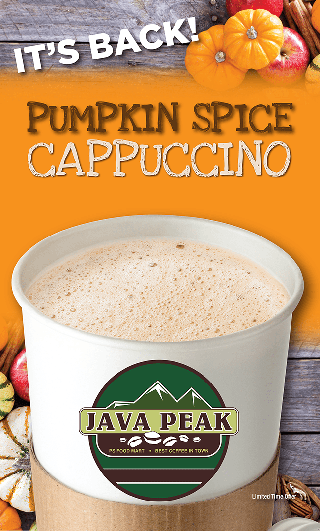 Pumpkin Spice Cappuccino Sign