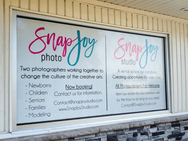 Snap Joy Window Graphic