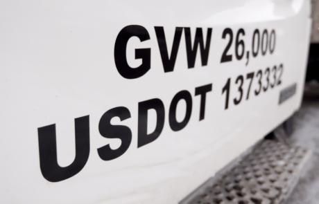 USDOT Truck Lettering