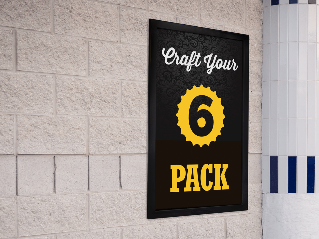 Craft Your 6 Pack Wall Frame