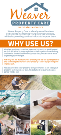 Weaver Property Care Info Card