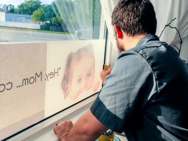 Reverse Print Window Graphic Install