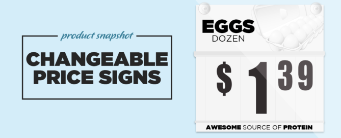 Changeable Price Sign Header