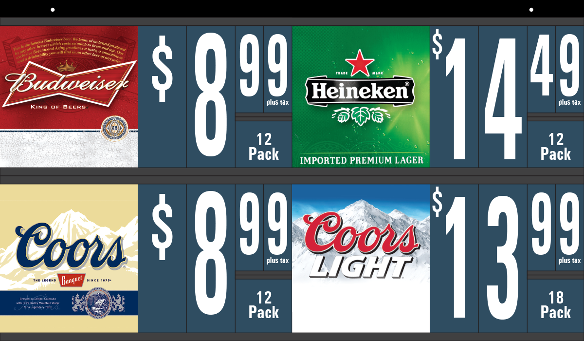 Changeable Price Beer Sign