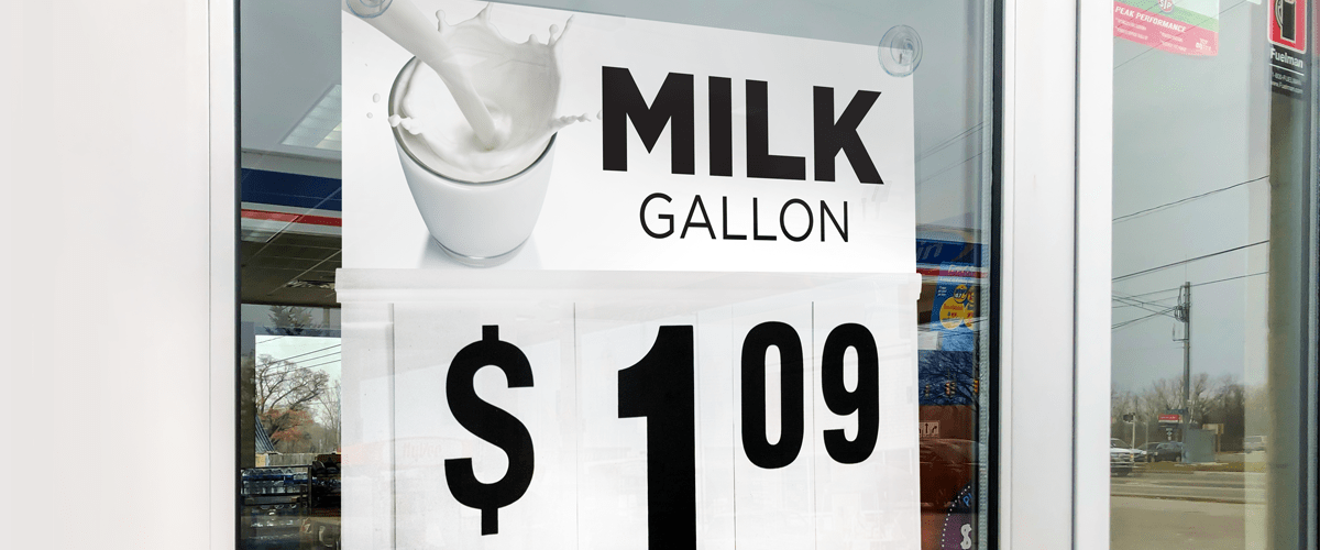 Gallon Milk $1.09
