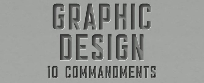 Graphic Design 10 Commandments