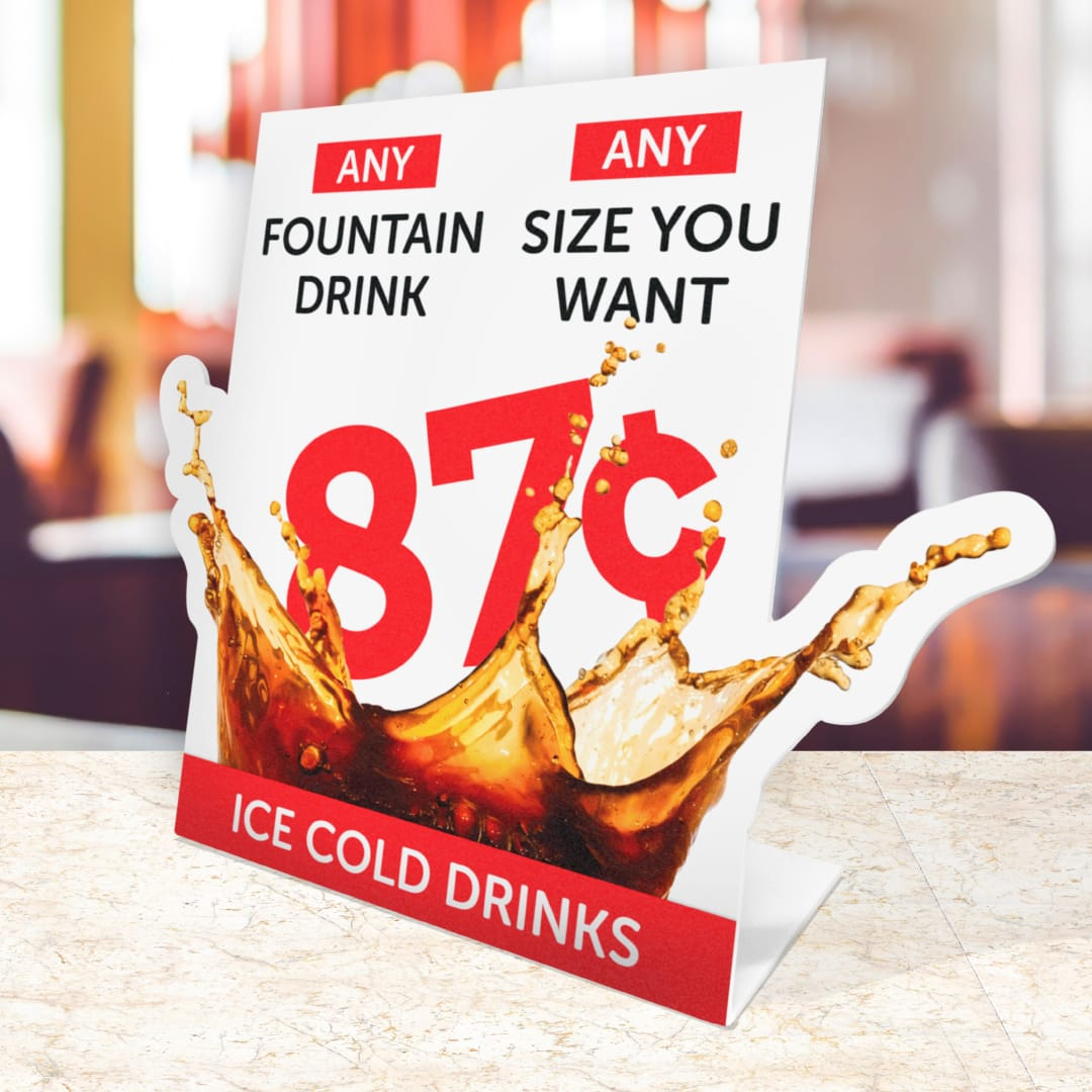 Any Fountain Drink 87 Cents