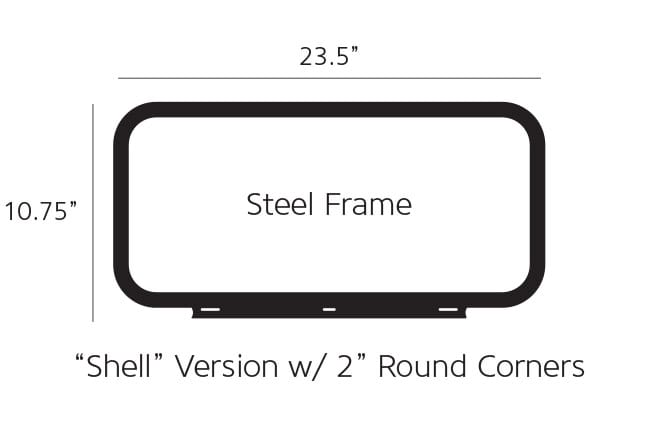 Shell Version Pump Topper Frame