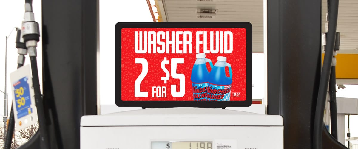 Washer Fluid on Sale Pump Topper
